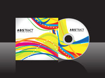 Abstract yellow cd cover template. Vector illustration Royalty Free Stock Photography