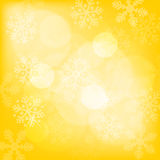 Abstract yellow christmas background. With snowflakes royalty free illustration