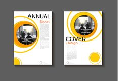 Abstract yellow Circle background modern cover design modern  Royalty Free Stock Photos