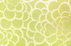 Abstract yellow circle fabric texture and background Royalty Free Stock Images