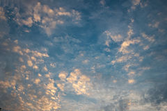Abstract yellow cloud over blue sky Stock Photo