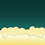 Abstract yellow clouds on dark Royalty Free Stock Photo