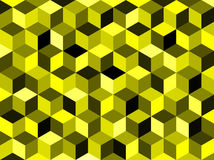 Abstract yellow colored geometric hexagonal background Stock Image