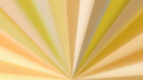 Abstract yellow colored rotating fan-like rays stock footage