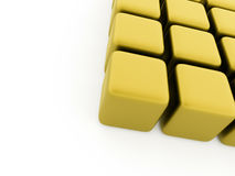 Abstract yellow cubes background Stock Images