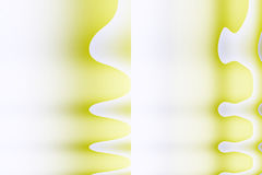 Abstract yellow  cubist shapes Stock Images