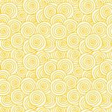 Yellow swirls seamless pattern Royalty Free Stock Photography