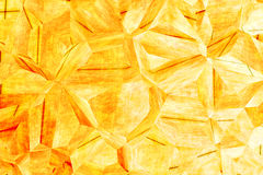 Abstract yellow 3D  background Royalty Free Stock Photos