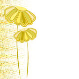Abstract yellow daisy. Vector abstract yellow daisy flower royalty free illustration