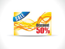 Abstract yellow discount card template Stock Photos