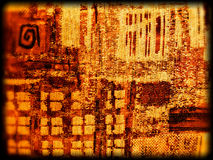 Abstract orange fabric texture Royalty Free Stock Image