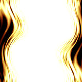 Abstract yellow flames. Forming a border Stock Photo