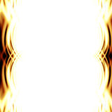 Abstract yellow flames. Forming a border Royalty Free Stock Photography