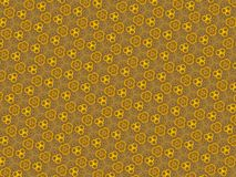 Abstract yellow floral kaleidoscope background Stock Photos