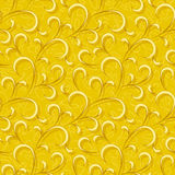 Abstract yellow floral seamless background Royalty Free Stock Photography