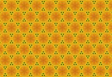 Abstract yellow flower pattern. Stock Images