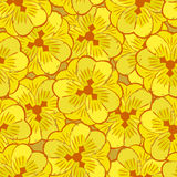 Abstract yellow flowers seamless pattern Royalty Free Stock Photo