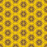 Abstract yellow flowers, seamless pattern Stock Images