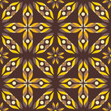 Abstract yellow flowers, seamless pattern Royalty Free Stock Photography