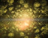 Abstract yellow Galaxy bokeh wallpaper. Abstract  blue Galaxy  bokeh background Stock Photography