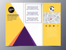 Abstract yellow geometric brochure design template vector tri-fo Royalty Free Stock Photos