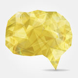 Abstract yellow geometric speech bubble Royalty Free Stock Photos