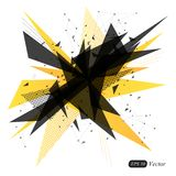 Abstract yellow geometric triangle modern  background. Abstract explosion. Vector illustration Stock Image