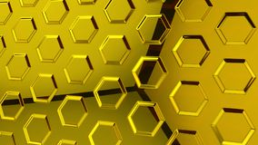 Abstract yellow glass background 3d rendering. Abstract yellow glass futuristic background 3d rendering computer simulation Stock Photography