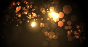 Abstract Yellow and Gold Bokeh Light Background Illustration. An abstract yellow and gold bokeh of lights background illustration. Vector EPS 10 available vector illustration