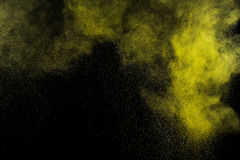 Abstract yellow and gold  paint Holi. Stock Images