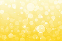 Abstract yellow, golden lights, bokeh background Royalty Free Stock Image