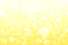 Abstract yellow, golden lights, bokeh backgrounds Stock Images