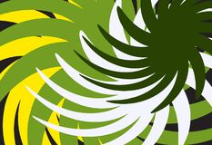 Abstract yellow green background Stock Images