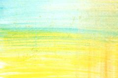 Abstract yellow green and blue watercolor art hand paint on white background,Watercolor background. . Abstract yellow green and blue watercolor art hand paint stock illustration