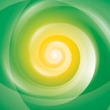 Abstract Yellow Green Swirl Background. Vector swirling backdrop in yellow green color Royalty Free Stock Photos