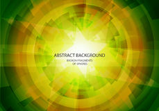 Abstract yellow and green vector background.  Royalty Free Stock Images