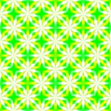 Abstract yellow, green and white floral pattern. Simple petal texture background. Seamless illustration. Stock Photo