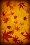 Abstract yellow grunge autumn background Stock Photography