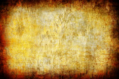 Abstract yellow grunge background Stock Photos