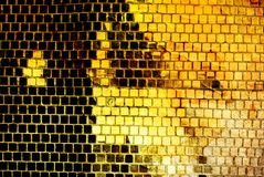 Abstract yellow grunge background stock illustration