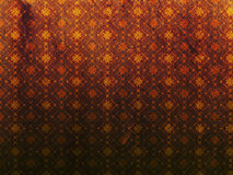 Yellow grunge pattern background. Abstract yellow grunge textured background with floral pattern Royalty Free Stock Images
