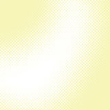 Abstract yellow halftone vector background Royalty Free Stock Photos