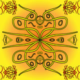 Abstract yellow indigenous background Royalty Free Stock Photos