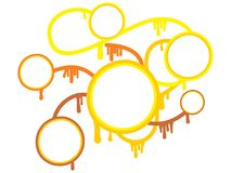 Abstract yellow infographic circles. Vector illustration Stock Photography