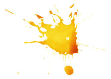 Abstract yellow ink splash Royalty Free Stock Photos