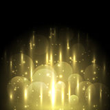 Abstract yellow light and bokeh glowing background. Stock vector Royalty Free Stock Image
