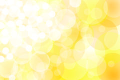 Abstract yellow lights. Background with circles Stock Image