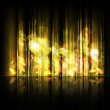 Abstract yellow lines background Royalty Free Stock Photos
