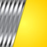 Abstract yellow and metallic background Stock Photo