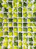 Abstract yellow mosaic dimension Royalty Free Stock Photos